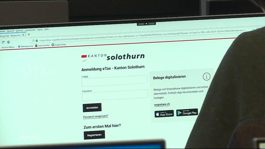 Solothurn lanciert «eTax»