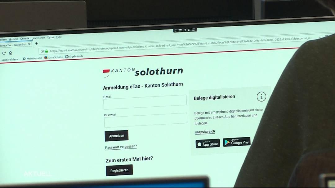 "Solothurn lanciert ""eTax"""