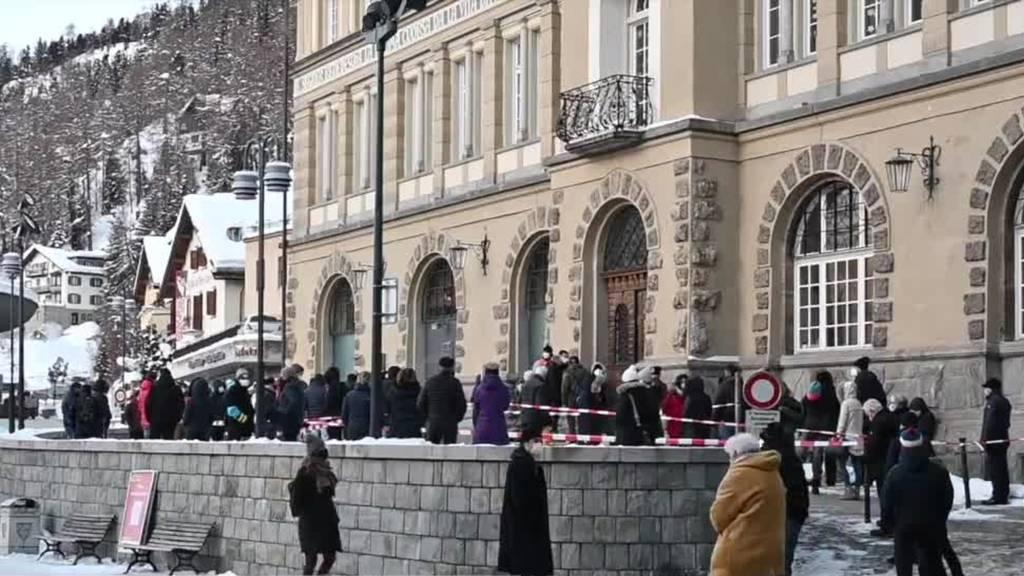 Beginn der Flächentests in St. Moritz