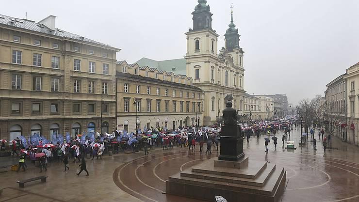 Demonstration im Zentrum Warschaus (Archiv)