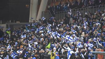 Ein Fussball-Hexenkessel in Helsinki: kein alltägliches Bild in Finnland