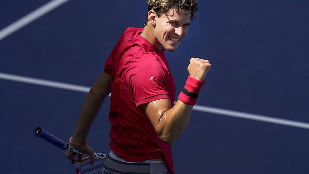 Dominic Thiem steht am US Open in der 2. Runde, nachdem er vor einem Jahr eine Auftaktniederlage erlitten hat