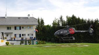 Der Heliport in Holziken.