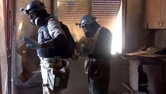 UNO-Mitarbeiter suchen in Syrien nach Spuren von Giftgas.