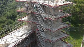 Die Besucher dürfen am Samstag auf den ehemaligen Wohnturm steigen.