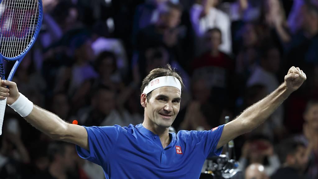 Roger Federer gewann sein erstes Einzel am Laver Cup
