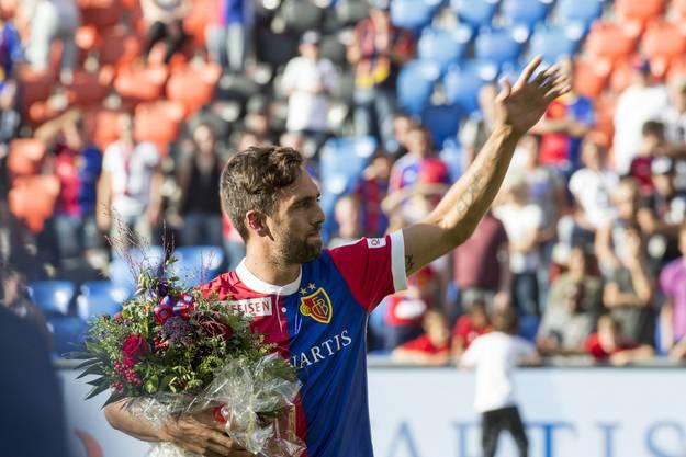 Nach dem Spiel gegen Luzern trat Matias Delgado zurück, gegen Lugano wurde er dann feierlich verabschiedet.