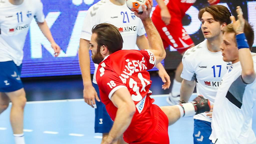 Schweizer Handballer in Finnland nicht gefordert