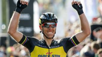Der Belgier Philippe Gilbert nach dem Sieg der Flandern-Rundfahrt