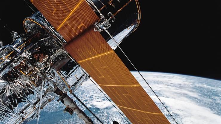 """Das riesige Weltraumteleskop """"Hubble"""" hat die Entstehung eines Sturms auf dem Planeten Neptun über Jahre dokumentiert. (Archivbild)"""