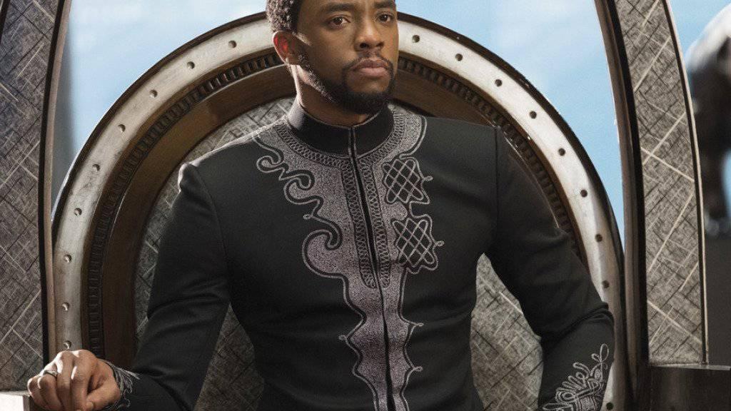 """Chadwick Boseman spielt im Film """"Black Panther"""", der am Wochenende vom 16. bis 18. Februar 2018 in Nordamerika am meisten Leute in die Kinos lockte. (Archiv)"""