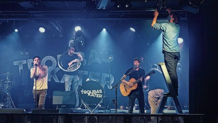 Der Soundcheck der Berner Band Troubas Kater – der letzte vorläufig. Bis vorerst Ende Oktober bleibt das KIFF zu.