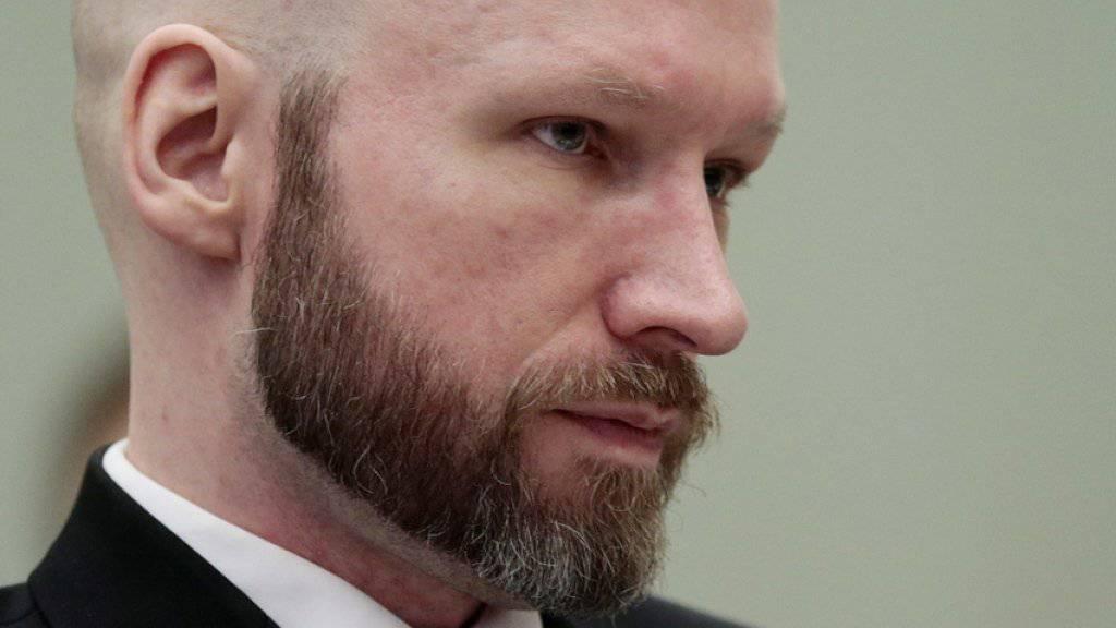 Anders Behring Breivik bei seinem Prozess am 18. Januar (Archivbild).