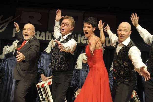 Florian Schneider (links), Sarah Thommen und Martin Vogt im Einsatz.