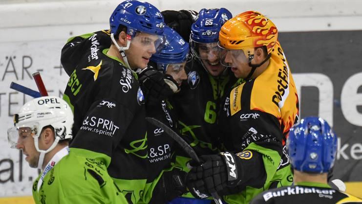 Die Spieler des HC Davos konnten die Partie schlussendlich für sich entscheiden.