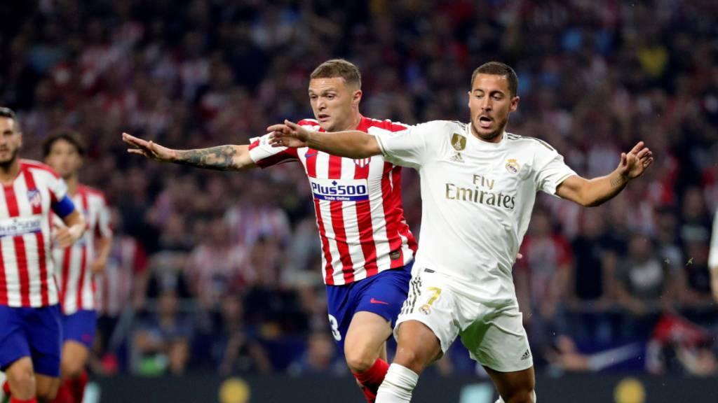 Real Madrids Eden Hazard (rechts) ist noch auf Formsuche
