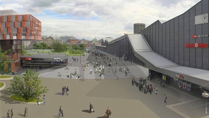 Würde heute Basel wieder Nein sagen zum Projekt Centralpark? Un was meint es zum grünen Turm? (zvg / Visualisierung)