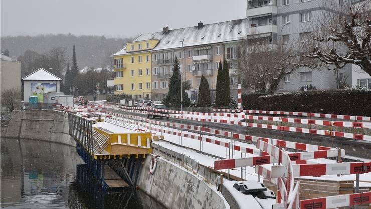 Nach knapp zwei Jahren wird die Baustelle an der Solothurnerstrasse im April/Mai geschlossen.