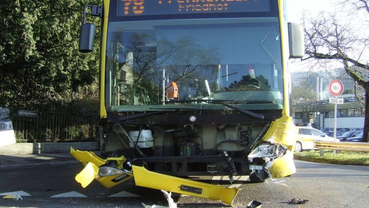 Beim Unfall gab es keine Verletzten.