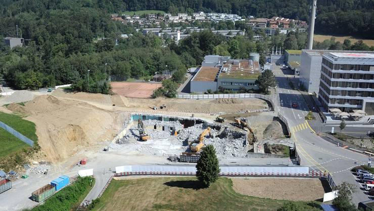Das unterirdische Notspital in Baden-Dättwil wird bereits abgebrochen.