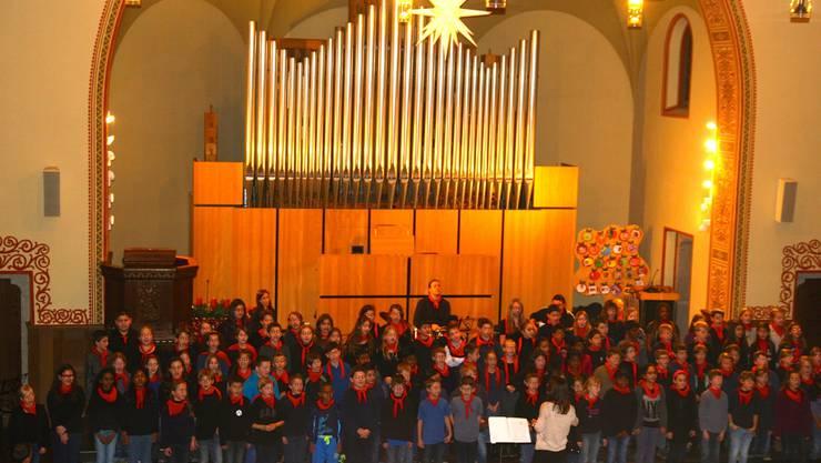 Der Chor der 3./4. Klasse