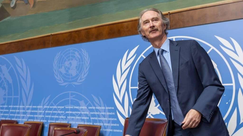 Uno-Vermittler will keinen Zeitrahmen für neue syrische Verfassung