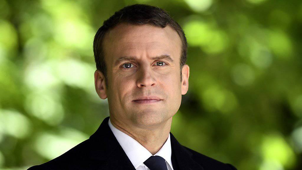 Will bei der Parlamentswahl im Juni eine Mehrheit mit seiner neuen Partei erreichen: Der künftige französische Präsident Macron.