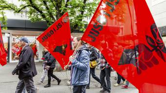 Tag der Arbeit in Baden 2018: Demonstration