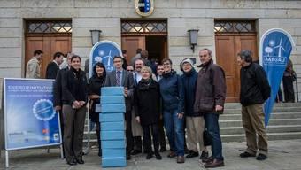 Im November 2013 wurde die Aargauer Energieinitiative eingereicht - heute steht sie im Grossen Rat zur Debatte.