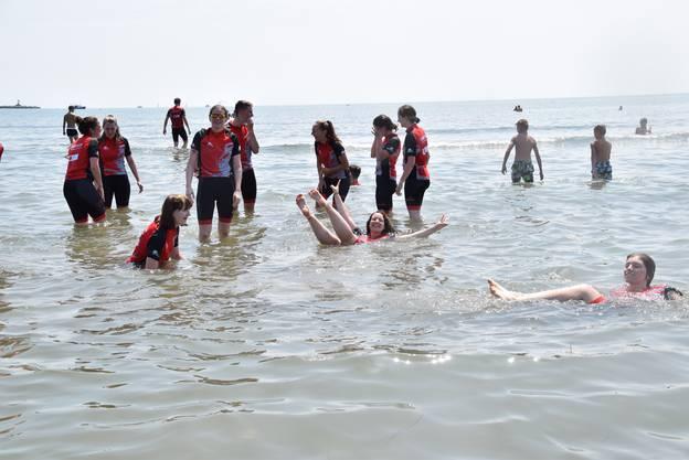 Impressionen von der Ankunft am Strand von Sottomarina di Chioggia