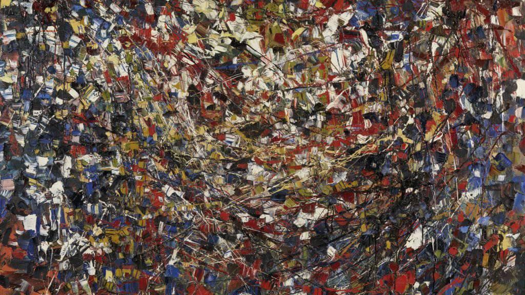 Das Gemälde «Composition» (1951) von Jean-Paul Riopelle ist Teil der Ausstellung «Stunde Null» im Kunsthaus Zürich. Sie läuft vom 7. Juni bis 22. September 2019.