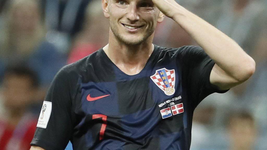Ivan Rakitic, Kroatiens Held im Penaltyschiessen gegen Dänemark. Aufgewachsen ist Doppelbürger Rakitic, der in der U21 noch für die Schweiz spielte, im Aargauischen