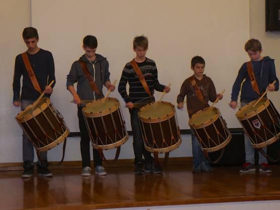 Tambouren der Kadettenmusik