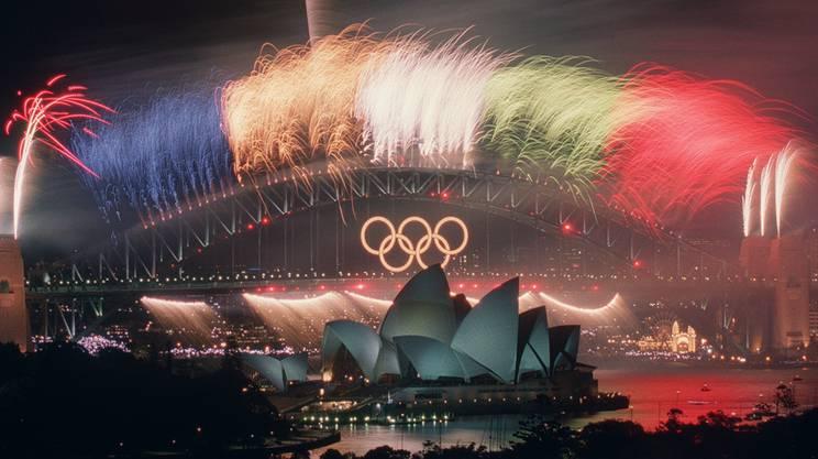 Da Held früher nach Hause musste, verpasste er dieses grandiose Feuerwerk an der Abschlussfeier von Sydney 2000.