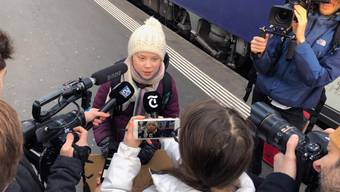 Klimaaktivistin Greta reist nach Davos