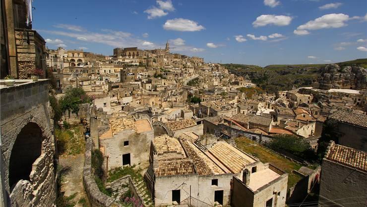 Einst wurden die Bewohner der Stadt Matera umgesiedelt. Heute drehen hier Teams aus Hollywood.