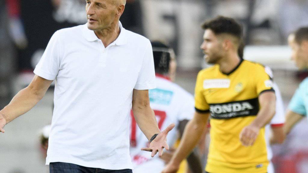 Will mit Sion seine Erfolgsserie auswärts gegen die Young Boys fortsetzen: Trainer Peter Zeidler