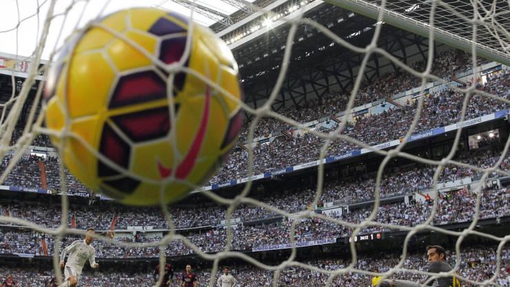 Bald nicht mehr Nike: Der Sportartikel-Hersteller Puma wird Partner der spanischen Fussballmeisterschaft LaLiga und wird diese ab der Saison 2019/20 mit Bällen und andere Produkten beliefern. (Archivbild)