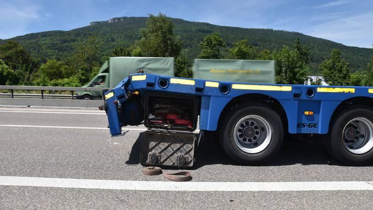 Beim Auffahrtsunfall wurde eine Person verletzt.