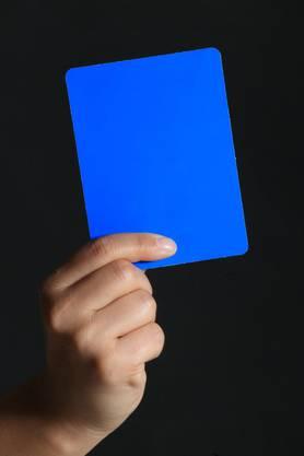 Die blaue Karte: Kein gutes Zeichen.