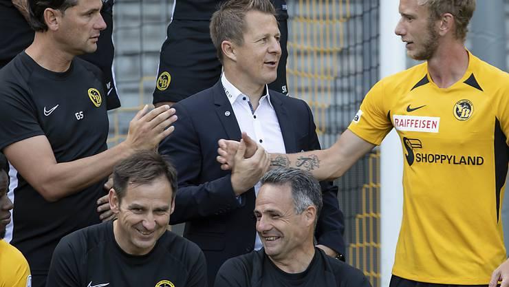 Die wichtigen Leute bei YB: Trainer Gerardo Seoane, Sportchef Christoph Spycher, Captain Fabian Lustenberger