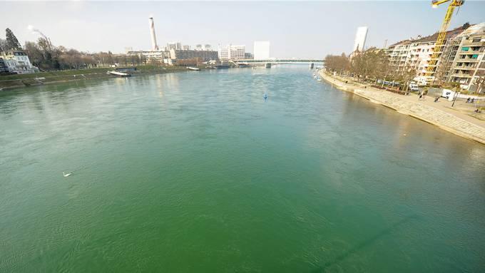 Blick von der Johanniterbrücke flussabwärts Richtung Dreirosenbrücke.