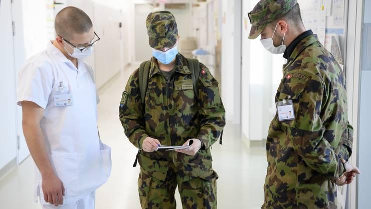 In Genf leistet die Armee bereits einen Einsatz in einem Spital. (Archivbild)