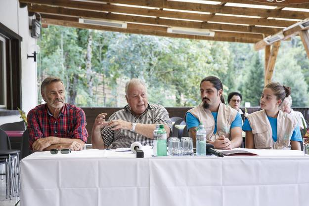 v.l. René Strickler, Werner Ballmer und Marc Zihlmann an einer Medienkonferenz am Tag vor der Eröffnung