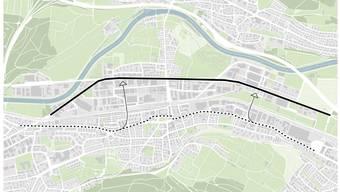 Das kantonale Bauprojekt sieht eine Verlagerung des Autoverkehrs auf die Bernstrasse vor.