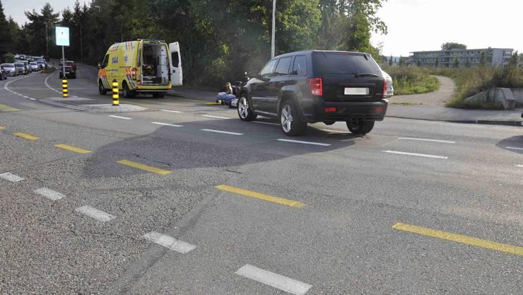 In Biberist kam es am Dienstagabend zu einer Kollision zwischen einem Autofahrer und einer Mofafahrerin,