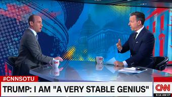 Trump-Spitzenberater Stephan Miller ist der Albtraum eines jeden Journalisten. Bei einem Interview auf CNN ging er kaum auf die Fragen des bedauernswerten CNN-Moderators Jake Tapper ein