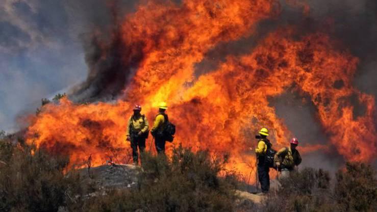 Camper nach Bränden in Kalifornien abgeschnitten