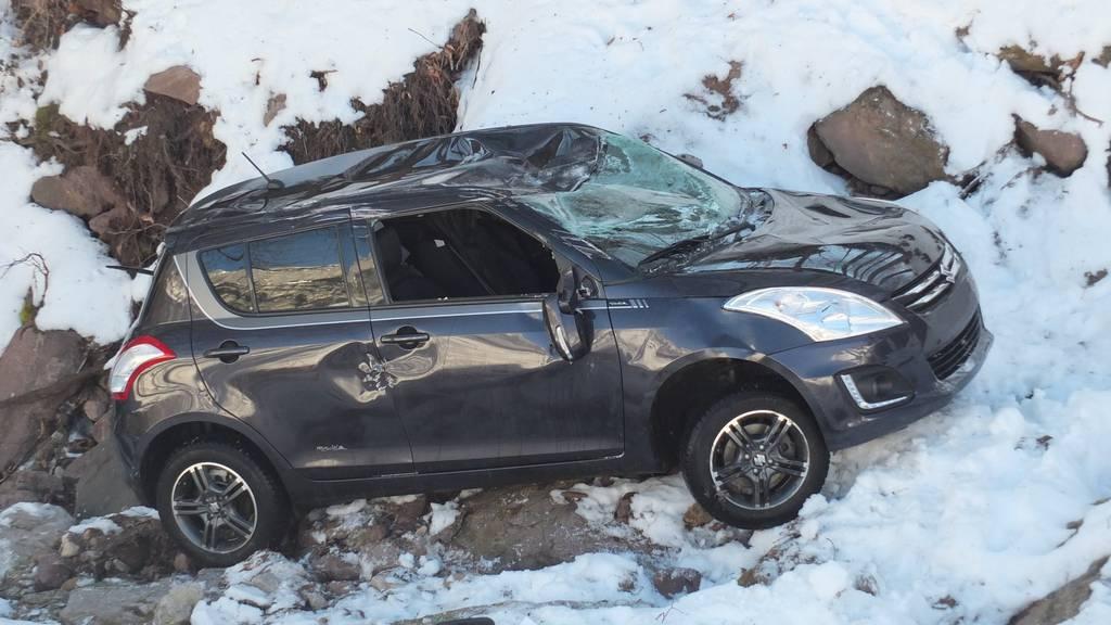 Das Auto des 75-Jährigen erlitt bei dem Unfall einen Totalschaden.