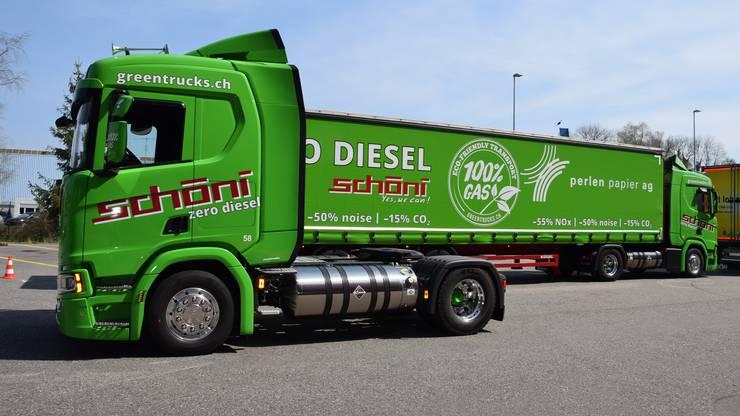 Das Rothrister Transportunternehmen Schöni stockt seinen Wagenpark mit 22 neuen Lastwagen auf, die mit Gas unterwegs sind.